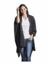 Mer Sea Cotton Cashmere Wrap With Bag Black