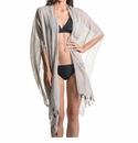 Mer Sea Cotton Tassel Wrap With Bag Cloud (Light Grey)