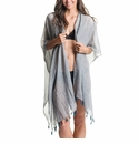 Mer Sea Cotton Tassel Wrap With Bag Slate (Dark Grey)