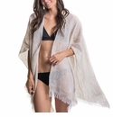 Mer Sea Linen Travel Wrap Flax (Light Taupe)