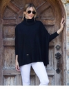 Mer Sea Mini Pocket Travel Sweater With Bag Black