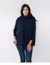 Mer Sea Mini Pocket Travel Sweater With Bag Navy