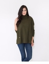 Mer Sea Mini Pocket Travel Sweater With Bag Olive