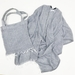 Mer Sea Pool Wrap With Tote Bag - Midnight Navy Stripes