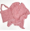 Mer Sea Pool Wrap With Tote Bag - Red Stripes