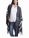 Mer Sea Travel Wrap Plaid Charcoal