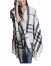 Mer Sea Travel Wrap Plaid Pearl