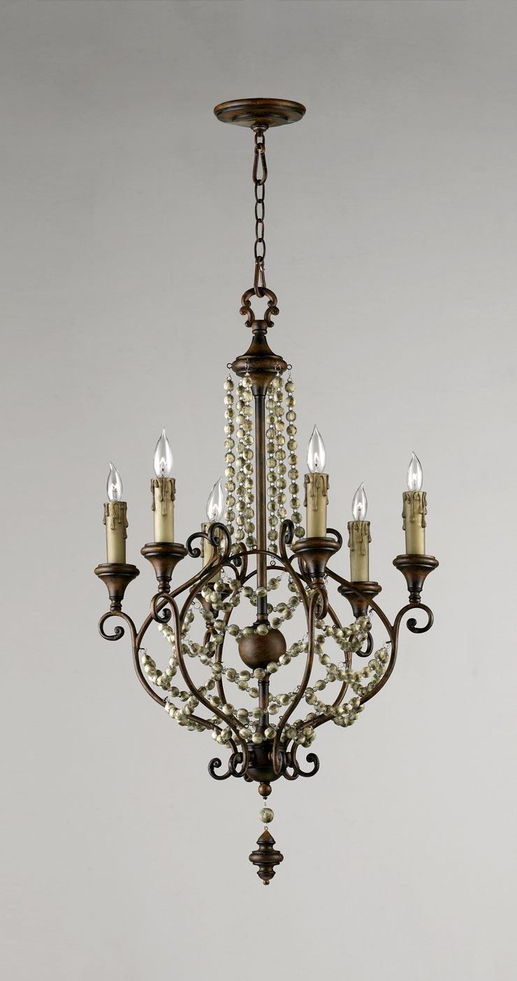 meriel 6 light iron chandelier by cyan design. Black Bedroom Furniture Sets. Home Design Ideas