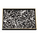Michel Design Works Black Florentine Vanity Decoupage Wooden Tray