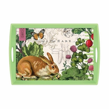 Michel Design Works Garden Bunny Large Decoupage Wooden Tray