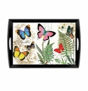 Michel Design Works Papillon Large Decoupage Wooden Tray