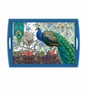 Michel Design Works Peacock Large Decoupage Wooden Tray