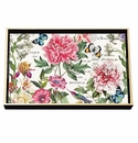Michel Design Works Peony Vanity Decoupage Wooden Tray