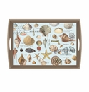 Michel Design Works Seashells Large Decoupage Wooden Tray