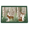 Michel Design Works Winter Woods Vanity Decoupage Wooden Tray