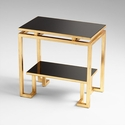 Midas Table Iron and Glass Gold Leaf by Cyan Design