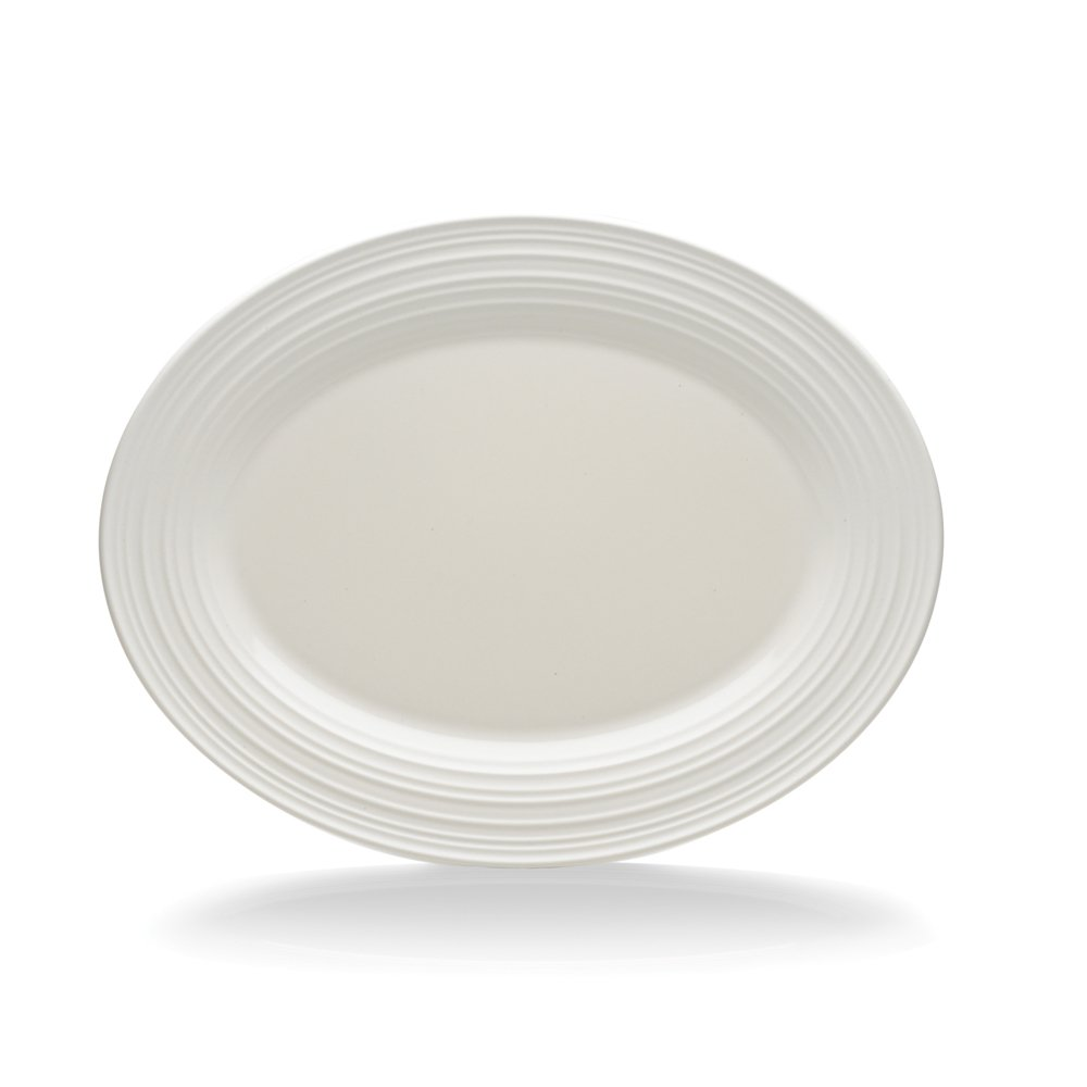 Mikasa swirl white oval platter 14 you save for Mikasa china