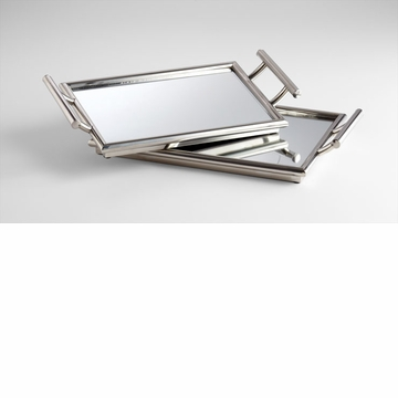 Mirrored Handled Nesting Tray by Cyan Design