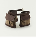 Mission Mercantile Bird Bag Trio Game Belt Brown