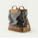 Mission Mercantile Ice Block Bag Charcoal - Oak Leather