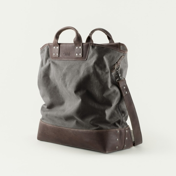 Mission Mercantile Ice Block Bag Charcoal - Oil Leather
