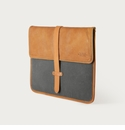 Mission Mercantile Laptop Sleeve Charcoal - Oak Leather