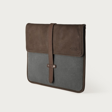 Mission Mercantile Laptop Sleeve Charcoal - Oil Leather