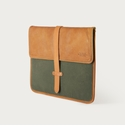 Mission Mercantile Laptop Sleeve Forest - Oak Leather
