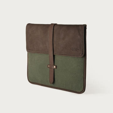 Mission Mercantile Laptop Sleeve Forest - Oil Leather