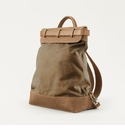 Mission Mercantile Steamer Backpack Brown - Oak Leather