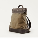 Mission Mercantile Steamer Backpack Brown - Oil Leather