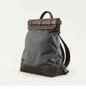 Mission Mercantile Steamer Backpack Charcoal - Oil Leather