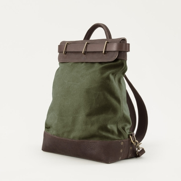 Mission Mercantile Steamer Backpack Forest - Oil Leather