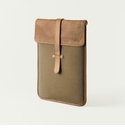 Mission Mercantile Vertical Laptop Sleeve Brown - Oak Leather