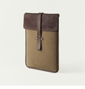 Mission Mercantile Vertical Laptop Sleeve Brown - Oil Leather