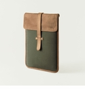 Mission Mercantile Vertical Laptop Sleeve Forest - Oak Leather