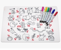 Modern Twist Alphabet Animals  Placemat & Markers Kids Box Set