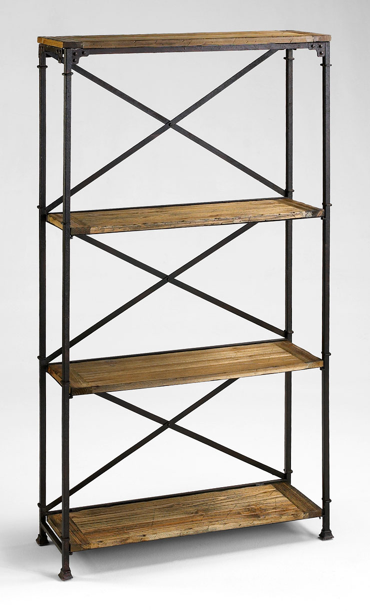 monacco iron etagere by cyan design. Black Bedroom Furniture Sets. Home Design Ideas