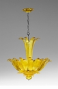 Moritz Yellow Glass Pendant Light by Cyan Design