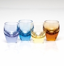 Moser Bar Multicolor Shot Glasses Set of 4 Multicolored