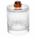 Moser Bonbon 8.5 Inch Canister With Lid Clear & Topaz