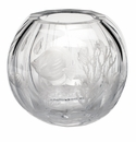 """Moser Globe 10.6"""" Coral & Fish Vase Clear"""
