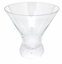 Moser Pebbles 8.5oz Stemless Martini Glass Clear