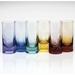 Moser Whisky Ocean Life 13.5oz Hiball Glass Set of 6 Rainbow & Aquamarine