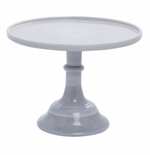 """Mosser Glass 10"""" Cake Plate Marble"""