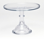 """Mosser Glass 10"""" Footed Cake Plate - Crystal"""