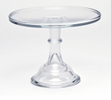 "Mosser Glass 10"" Footed Cake Plate - Crystal"