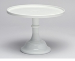 """Mosser Glass 10"""" Footed Cake Plate - Milk"""