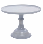 """Mosser Glass 12"""" Cake Plate Marble"""