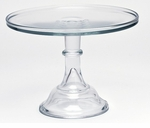 """Mosser Glass 12"""" Footed Cake Plate - Crystal"""